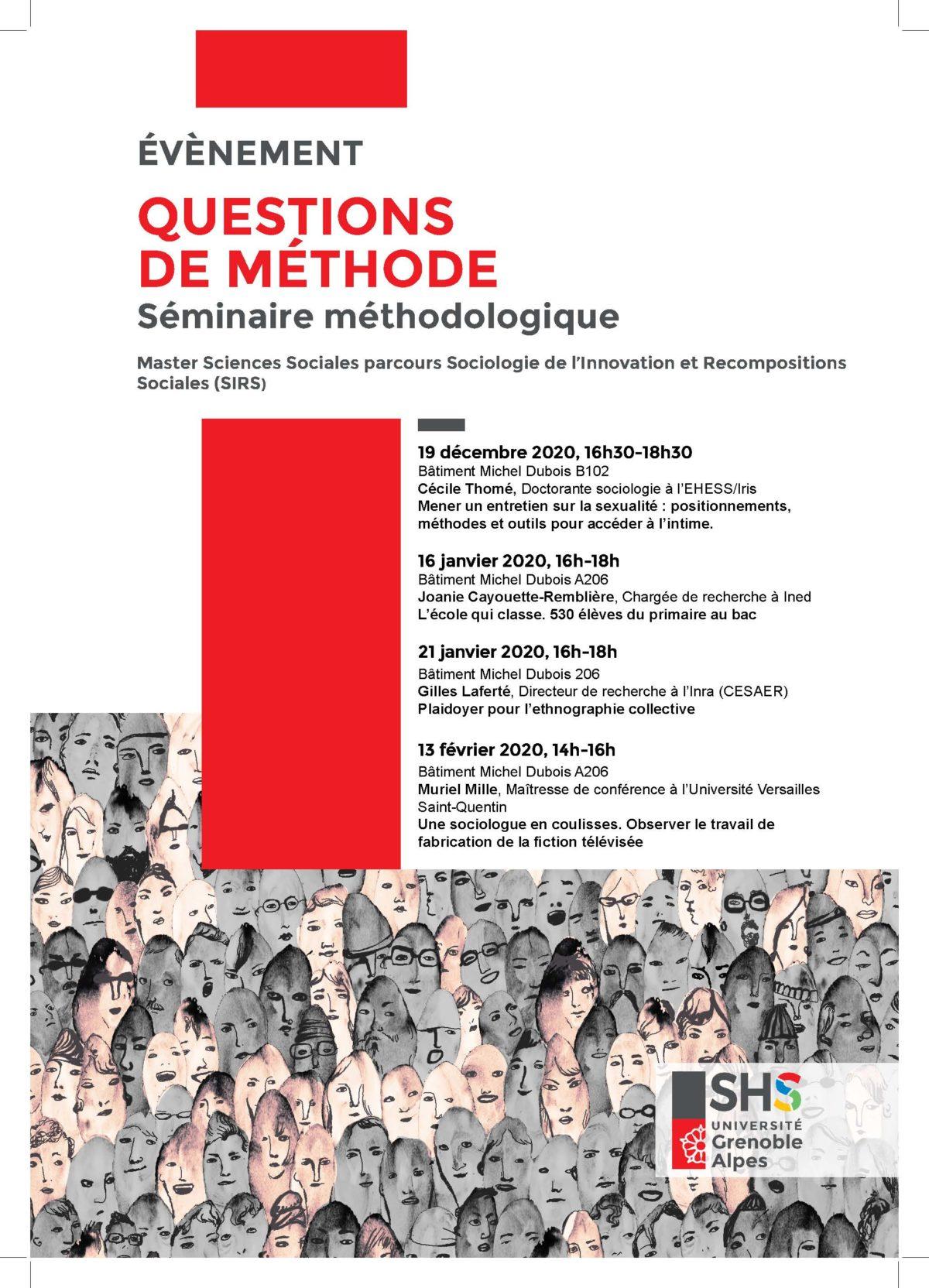 Questions de méthode -Séminaires 2019-2020